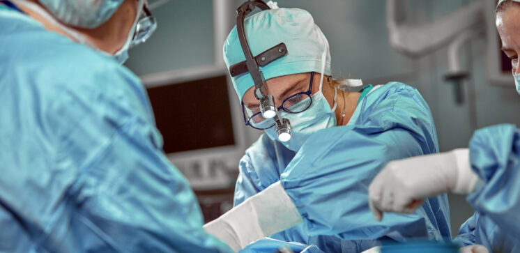 Portrait,Of,Team,Of,Multiethnic,Surgeons,At,Work,In,A